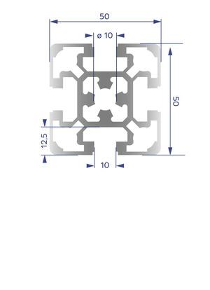 Alumínium Profil B10 50x50 L