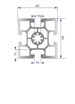 Alumínium Profil B10 60x60H