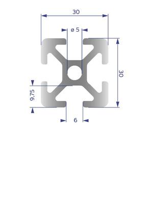 Alumínium Profil I6 30x30
