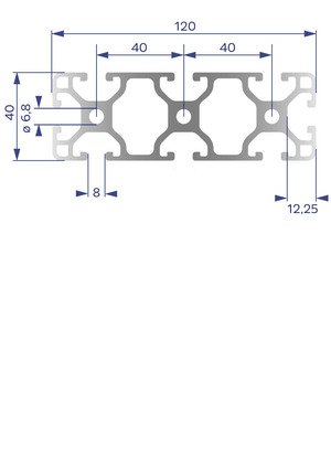 Alumínium Profil I8 40x120L