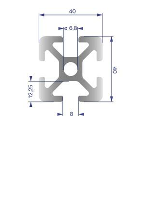 Alumínium Profil I8 40x40