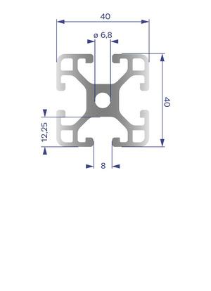 Alumínium Profil I8 40x40 L