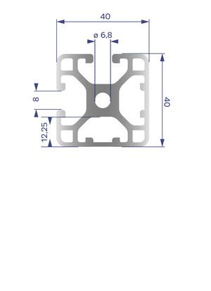 Alumínium Profil I8 40x40 L 2N90
