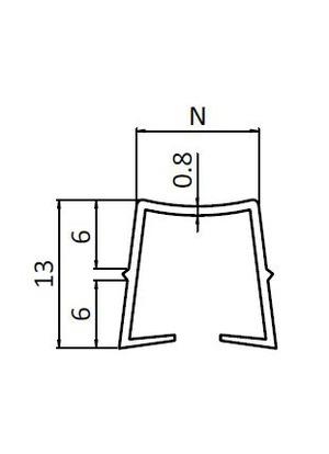 Befogóprofil PP B10 2-6 mm, Horonytakaró fekete