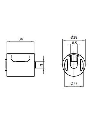 Csatlakozó adapter csővég - profil