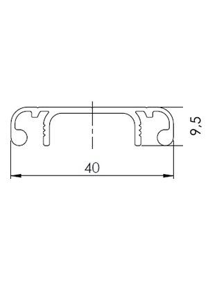 Csatorna fedő profil 40 (3m/sz)