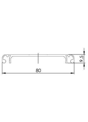 Csatorna fedő profil 80 (3m/sz)
