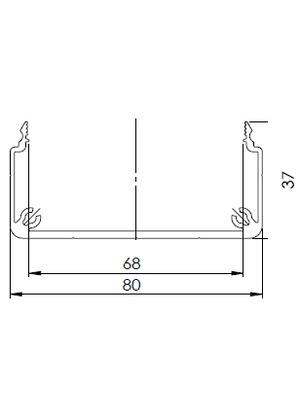 Csatorna profil 40x80 U (3m/sz)