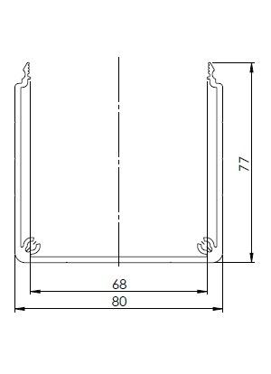 Csatorna profil 80x80 U (3m/sz)