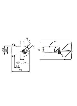 Drótháló rögzítő I8 / B10