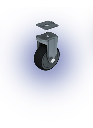 Görgő Fix, TPE, D80 (100kg)