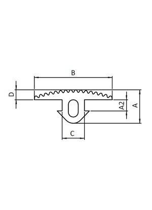 Horonytakaró gumiprofil I8