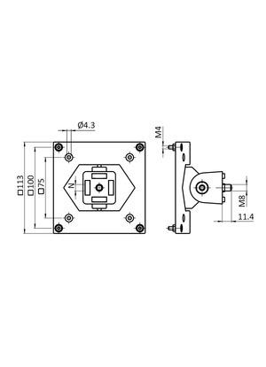 Monitor tartó (VESA 75 / 100) (40x40)