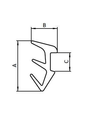Rugós horonyanya  M8  U10
