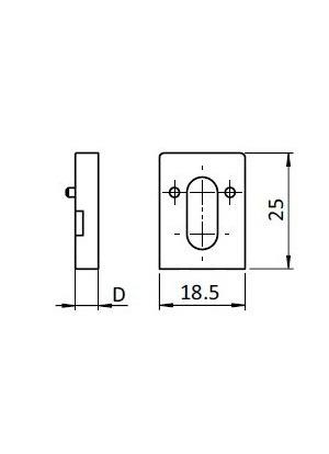 Uniblokk távtartó A=2