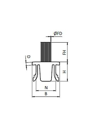 Véglezáró elem PA 45x90 fekete